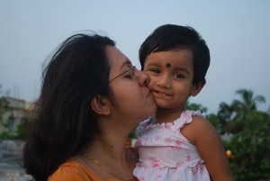 My wife (Debjaini) and daughter (Rupsha)