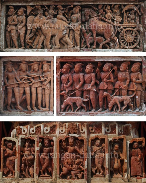 Terracotta Panels from Radhagobinda Temple, Aatpur (Antpur)