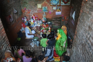 Puja at Inner Sanctum of Jatar Deul