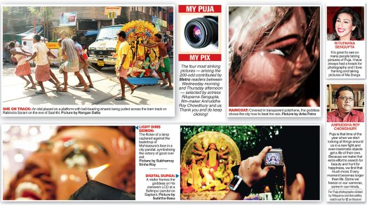 The page from Metro, The Telegraph, Kolkata. Dated 15th Oct. 2010