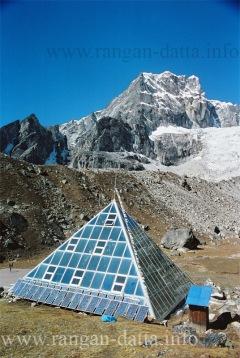 Glass Pyramid with Lobuche Peak & Glacier