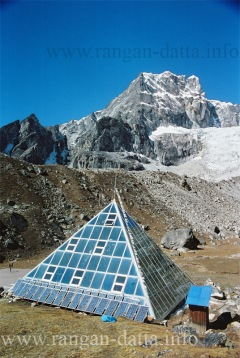 Glass Pyramid with Lobuche Peak & Glacier