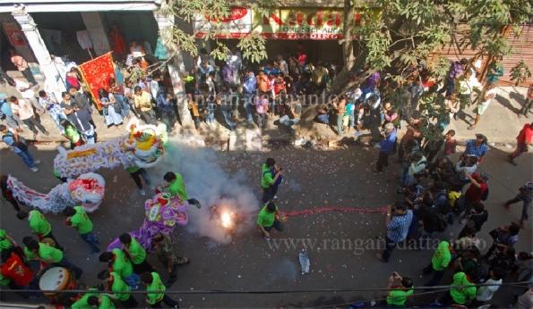 Chinese New Year, Tiretta Bazar (New Chinatown) Kolkata