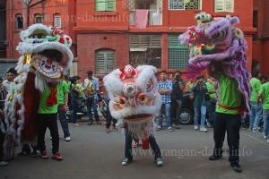 Lion Dance,Chinese New Year, Bow Barracks, Kolkata