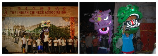 Lion Dance (Left: Stage, Right: Street)