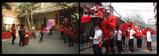 Left: Lion Dance, Right: Dragon Dance