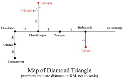 Rough sketch map of Diamond Triangle.
