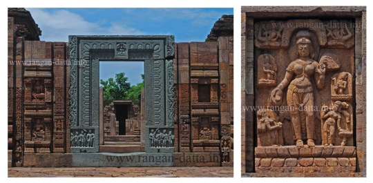 Left: Stone doorframe & Right: Sculpture