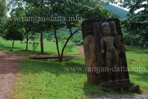 Buddha statue at Udaygiri entrance