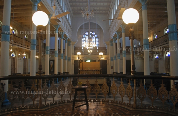 Interiors of Beth El Synagogue, Kolkata