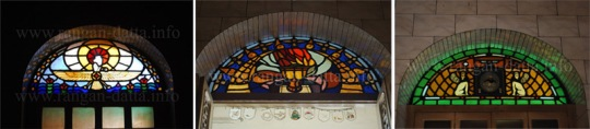 Stained Glass, Parsi Fire Temple, Calcutta (Kolkata)