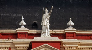 Minerva above the central protico