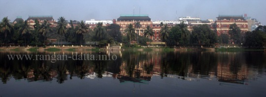Writers' Building, across Lal Dighi (Tank Square)