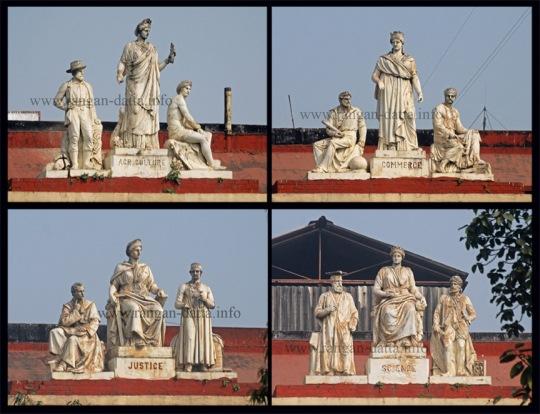 Statues on Writers' Terrace