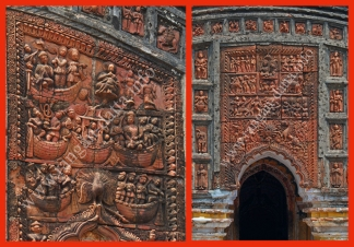 Terracotta Panels from Vishnu Temple, Depara, Joypur