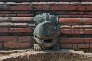Crocodile Head, probably used as water outlet, Ballal Dhipi