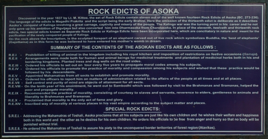 ASI board translating the Ashoka's Rock Edict in English
