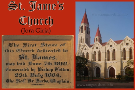 St. James' Church, Kolkata (Calcutta) and the foundation stone