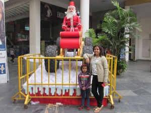 My wife Debjani and daughter Rupsha at City Cenre 1, Kolkata