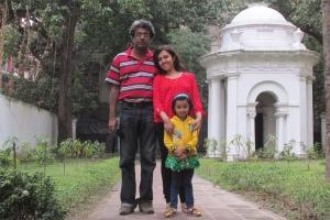 With my family at the St. John's Church, Kolkata