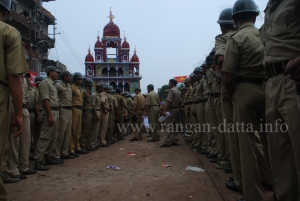 Police force at Mahesh Rath Jatra