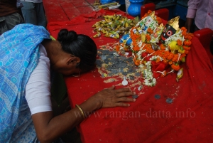 Devotee at Mahesh Rath Jatra
