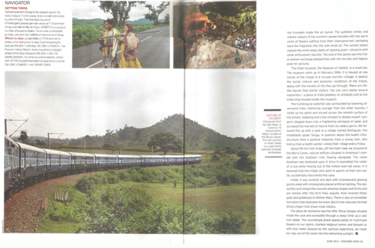Pages of Discover India with my photo