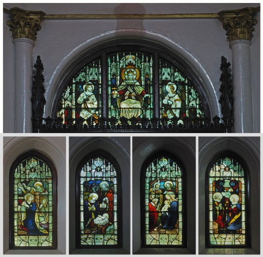 Stained Glass, St. Mary's Church (Bengali Cathedral), Calcutta (Kolkata)