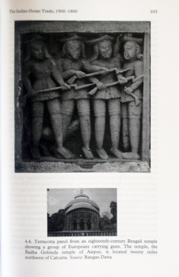 Terracotta Panel of European Soldiers, Radhagobinda Temple, Aatpur, Hooghly