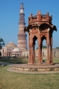 Smith's Folly, with Qutub Minar in the background