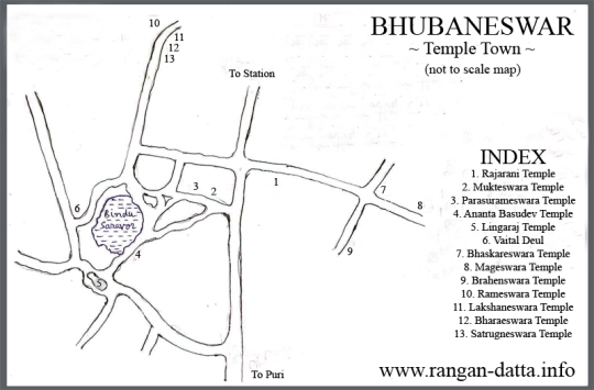 Bhubaneswar (Temple Town) Map