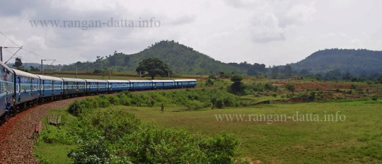 Kirandul Fast Passenger, with Eastern Ghat in backdrop