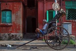 Riskshaw, Bow Barrack, Calcutta (Kolkata)