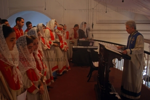 Choir, Armenian Christmas, Calcutta (Kolkata)
