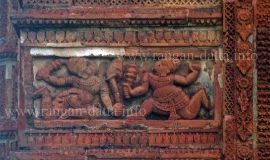 Bhima Duryodhana Club Duel, Kestori (Jor Bangla) Temple, Bishnupur