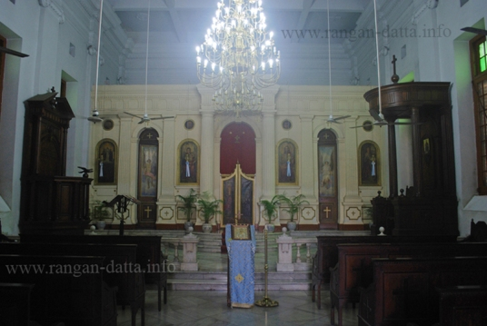 Interior, Greek Orthodox Church, Calcutta (Kolkata)