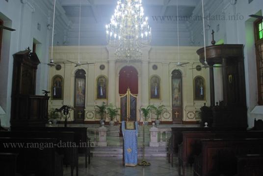 Interior, Greek Orthodox Church, Calcutta (Kolkata)