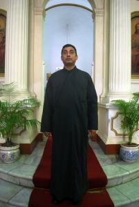 A Priest in Black Tunic,Greek Orthodox Church