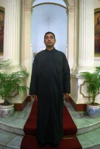 A Priest in Black Tunic,Greek Orthodox Church