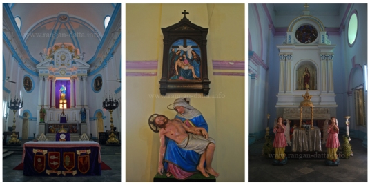 Interior of Portuguese Church, Calcutta (Kolkata)