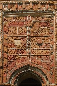 Close up of central arch panel