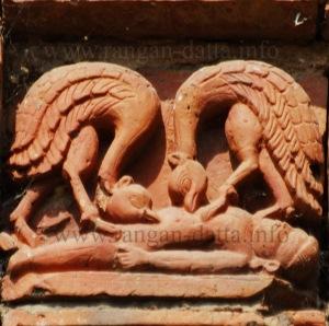 Vultures on Terracotta, Rajrajeshwar Temple ~ Kotalpur, Hooghly
