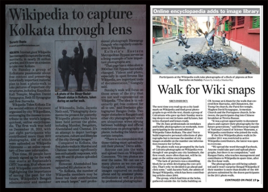 Press Coverage (Left: Hindustan Times, Right: The Telegraph)