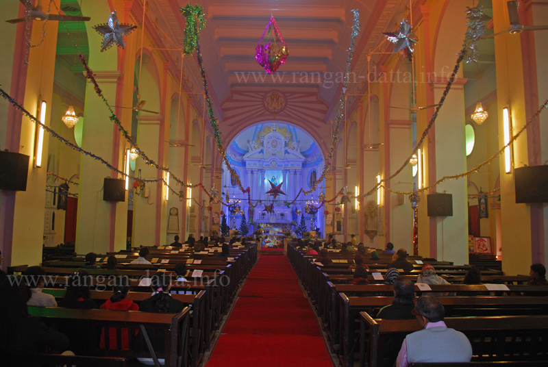 Christmas Mass, Portuguese Church, Calcutta (Kolkata)