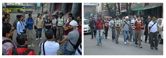 A few instructions and off goes the Wikipedians (Photos: Biswarup Ganguly)