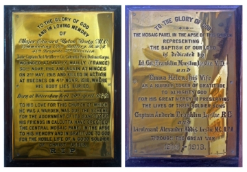 World War I (WWI) Plaques, St. John's Church, Kolkata (Calcutta)