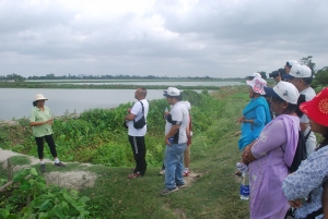 Bonani Kakkar (left) unfolding the mystries of East Calcutta Wetlands