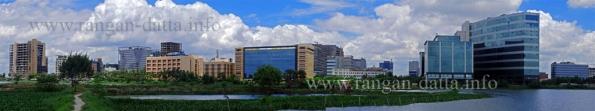 East Calcutta Wetland Panorama, with Salt Lake (Sec V) skyline (File Photo)
