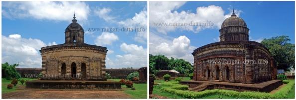 L: Radha Laljiu Temple. R: Radhashyam Temple. Bishnupur, Bankura