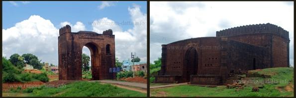 L: Small Stone Gateway R: Big Stone Gateway. Bishnupur, Bankura